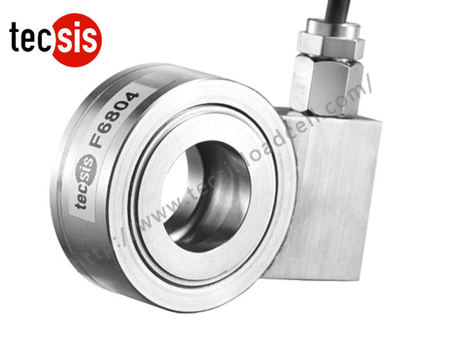 Donut Washer Type Compression Load Cell , Stainless Steel Load Sensor Load Cell
